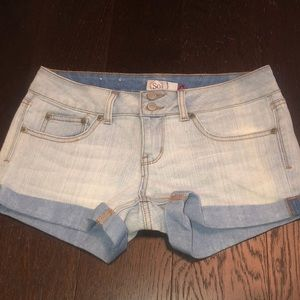 Denim shorts size 5